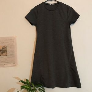 Shortsleeved grey Zara dress